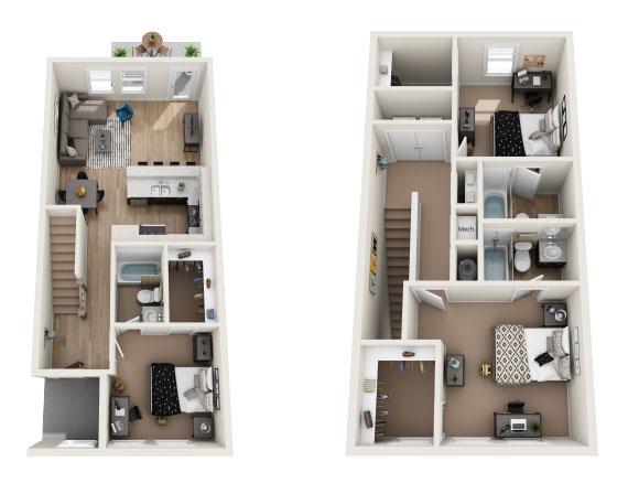 Apartment Floor Plans The Station Alafaya