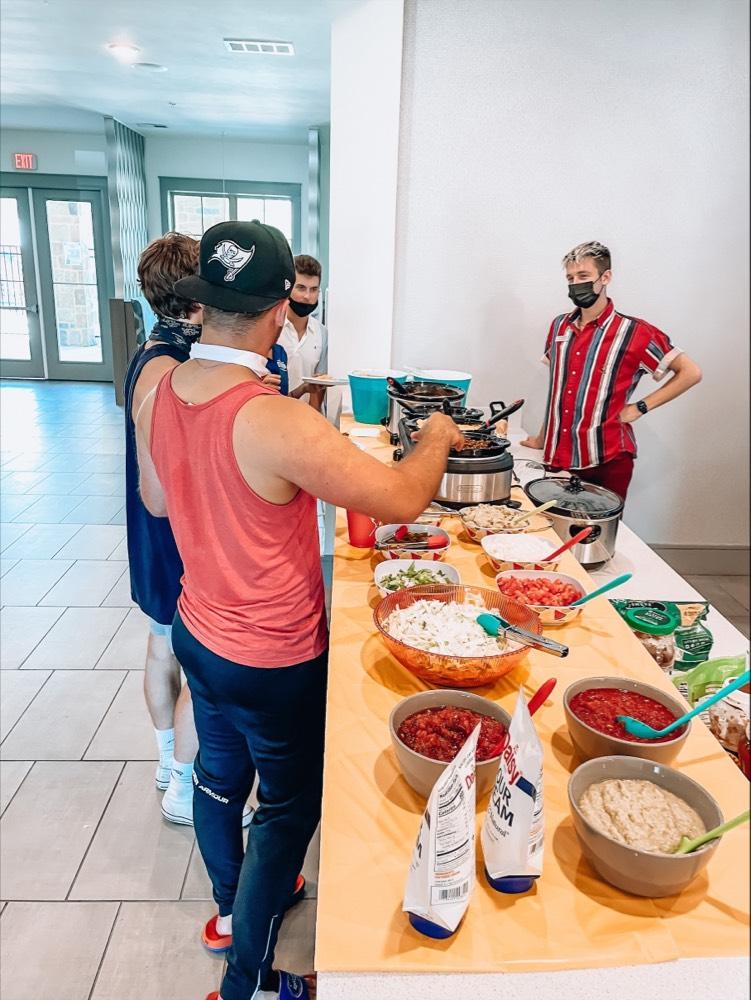 People Getting Food